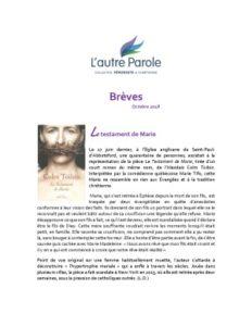 thumbnail of Les Brèves – Octobre 2018