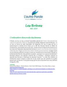 thumbnail of Les Brèves – Mai 2019