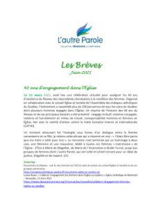 thumbnail of Les Breves – 2021 Juin